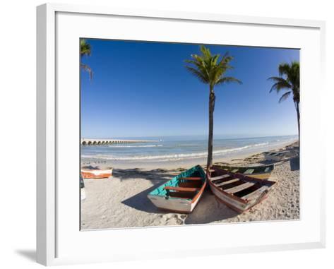 Beach of Progreso, Yucatan, Mexico-Julie Eggers-Framed Art Print