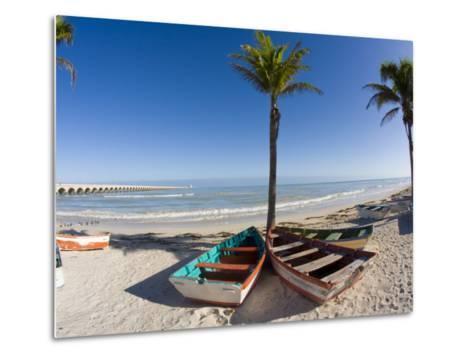 Beach of Progreso, Yucatan, Mexico-Julie Eggers-Metal Print