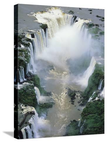 Towering Igwacu Falls Thunders, Brazil-Jerry Ginsberg-Stretched Canvas Print