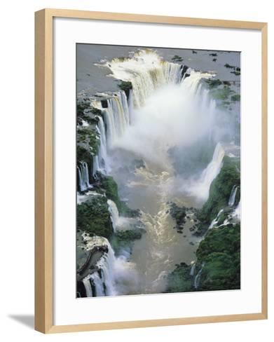 Towering Igwacu Falls Thunders, Brazil-Jerry Ginsberg-Framed Art Print