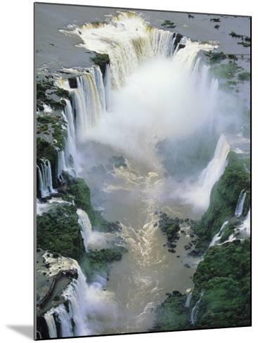 Towering Igwacu Falls Thunders, Brazil-Jerry Ginsberg-Mounted Photographic Print