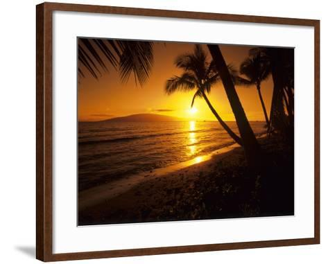 Colorful Sunset in a Tropical Paradise, Maui Hawaii, USA-Jerry Ginsberg-Framed Art Print
