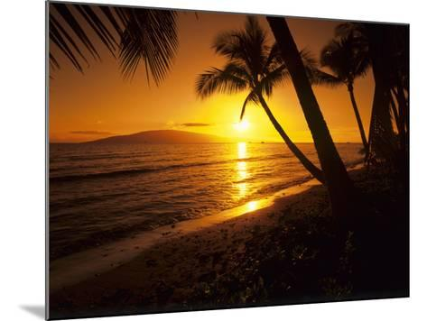 Colorful Sunset in a Tropical Paradise, Maui Hawaii, USA-Jerry Ginsberg-Mounted Photographic Print