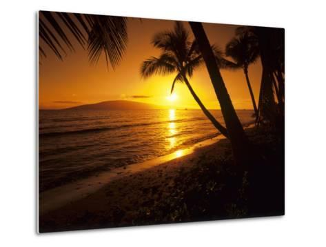 Colorful Sunset in a Tropical Paradise, Maui Hawaii, USA-Jerry Ginsberg-Metal Print