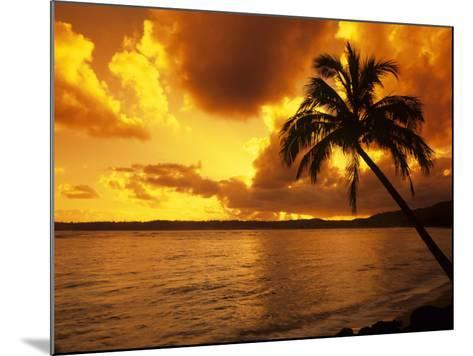 Colorful Sunrise in a Tropical Paradise, Kauai Hawaii, USA-Jerry Ginsberg-Mounted Photographic Print