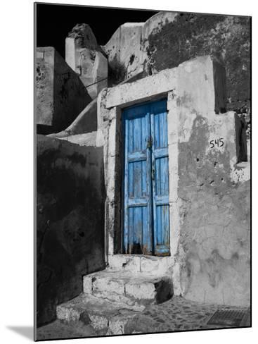 Colorful Blue Door, Oia, Santorini, Greece-Darrell Gulin-Mounted Photographic Print