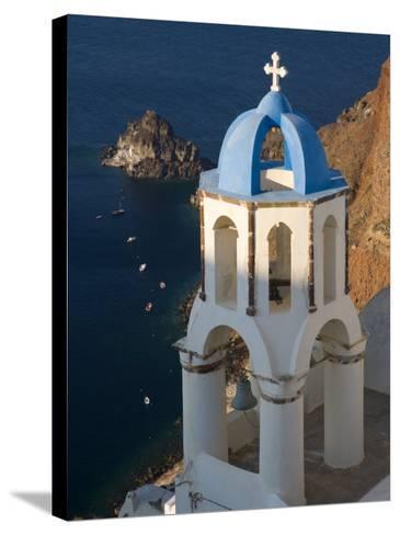 Town of Oia, Santorini, Greece-Darrell Gulin-Stretched Canvas Print