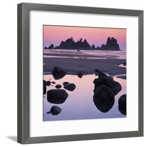 Shi Shi Beach, Olympic National Park, Washington, USA-Charles Gurche-Framed Art Print