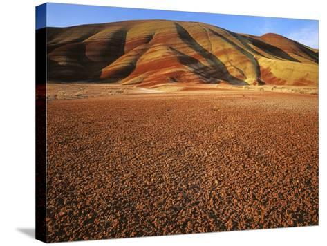 Painted Hills, John Day Fossil Beds National Monument, Oregon, USA-Charles Gurche-Stretched Canvas Print