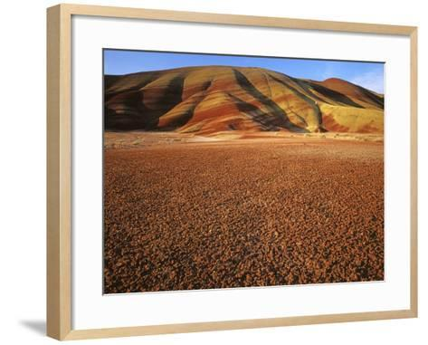 Painted Hills, John Day Fossil Beds National Monument, Oregon, USA-Charles Gurche-Framed Art Print