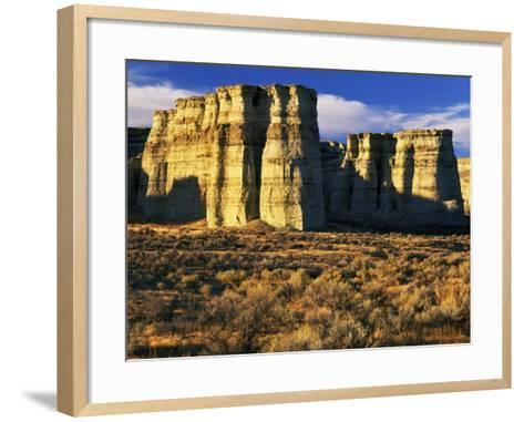 Pillars of Rome, Malheur County, Oregon, USA-Charles Gurche-Framed Art Print