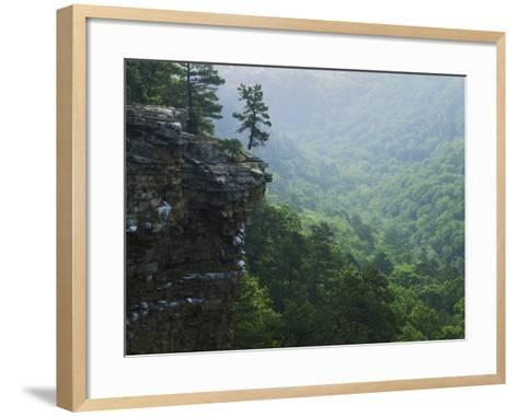 Bluff at Cedar Creek, Petit Jean State Park, Arkansas, USA-Charles Gurche-Framed Art Print
