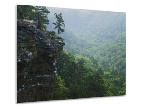 Bluff at Cedar Creek, Petit Jean State Park, Arkansas, USA-Charles Gurche-Metal Print