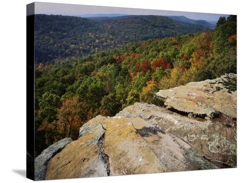 Bluff, Petit Jean State Park, Arkansas, USA-Charles Gurche-Stretched Canvas Print