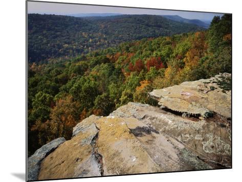 Bluff, Petit Jean State Park, Arkansas, USA-Charles Gurche-Mounted Photographic Print