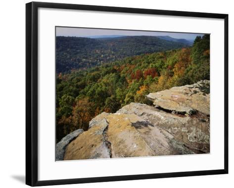 Bluff, Petit Jean State Park, Arkansas, USA-Charles Gurche-Framed Art Print