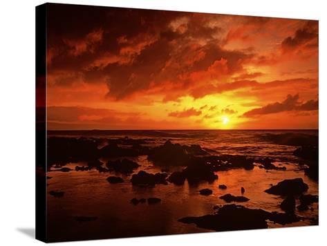 Sunset at Napili Point, Maui, Hawaii, USA-Charles Gurche-Stretched Canvas Print