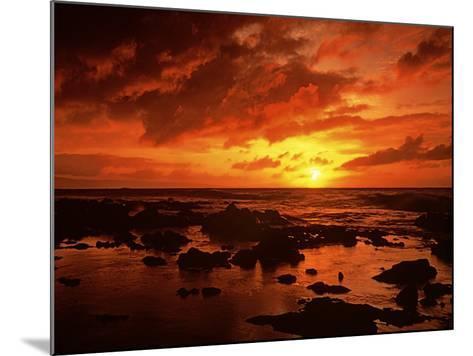 Sunset at Napili Point, Maui, Hawaii, USA-Charles Gurche-Mounted Photographic Print