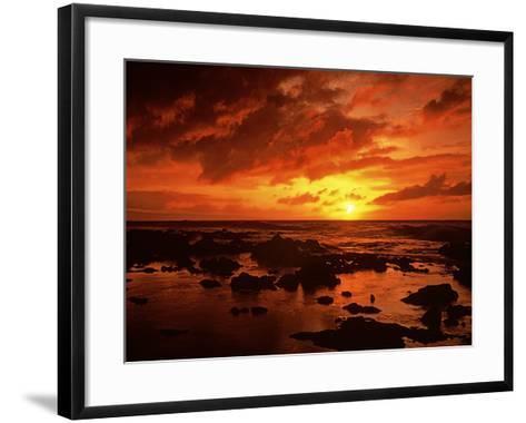 Sunset at Napili Point, Maui, Hawaii, USA-Charles Gurche-Framed Art Print