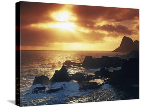 Sunrise from Nakalele Point, Maui, Hawaii, USA-Charles Gurche-Stretched Canvas Print