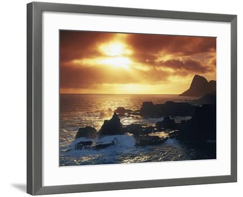 Sunrise from Nakalele Point, Maui, Hawaii, USA-Charles Gurche-Framed Art Print