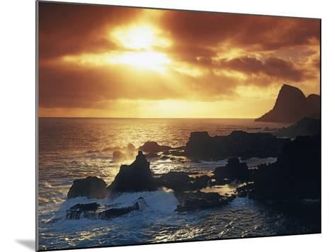 Sunrise from Nakalele Point, Maui, Hawaii, USA-Charles Gurche-Mounted Photographic Print