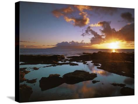 Sunset from Napili Point, Maui, Hawaii, USA-Charles Gurche-Stretched Canvas Print