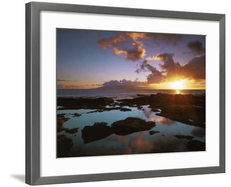 Sunset from Napili Point, Maui, Hawaii, USA-Charles Gurche-Framed Art Print