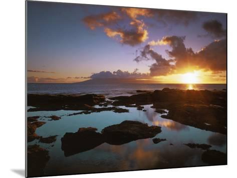 Sunset from Napili Point, Maui, Hawaii, USA-Charles Gurche-Mounted Photographic Print