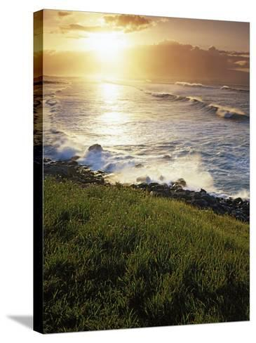 Sunset, Paia, Island of Maui, Hawaii, USA-Charles Gurche-Stretched Canvas Print