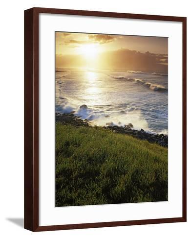 Sunset, Paia, Island of Maui, Hawaii, USA-Charles Gurche-Framed Art Print