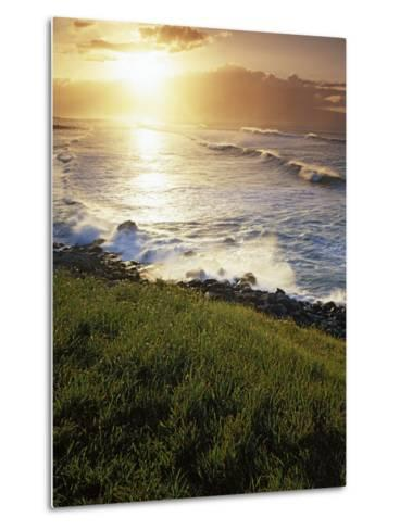 Sunset, Paia, Island of Maui, Hawaii, USA-Charles Gurche-Metal Print
