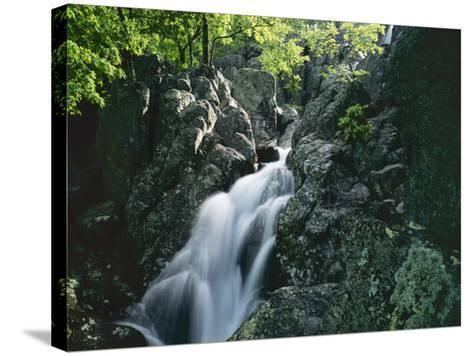 Mina Sauk Falls, Mark Twain National Forest, Missouri, USA-Charles Gurche-Stretched Canvas Print