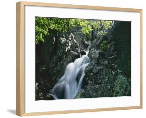 Mina Sauk Falls, Mark Twain National Forest, Missouri, USA-Charles Gurche-Framed Art Print