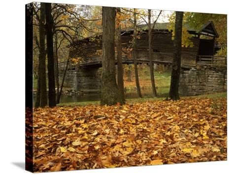 Humpback Covered Bridge, Covington, Virginia, USA-Charles Gurche-Stretched Canvas Print