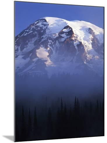 South face of Mt. Rainier at sunrise, Mt. Rainier National Park, Washington, USA-Charles Gurche-Mounted Photographic Print