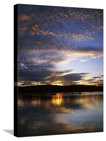 Sunset on Blind Bay, Shaw Island, Washington, USA-Charles Gurche-Stretched Canvas Print