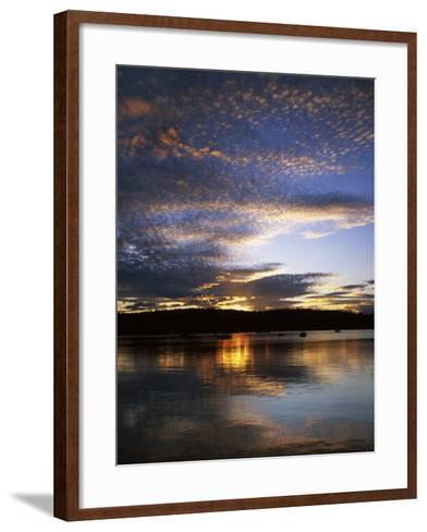 Sunset on Blind Bay, Shaw Island, Washington, USA-Charles Gurche-Framed Art Print