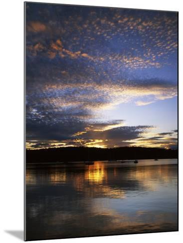Sunset on Blind Bay, Shaw Island, Washington, USA-Charles Gurche-Mounted Photographic Print