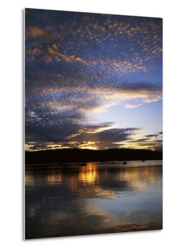 Sunset on Blind Bay, Shaw Island, Washington, USA-Charles Gurche-Metal Print
