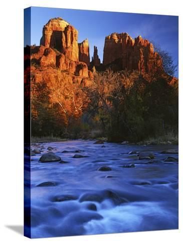 Cathedral Rock, Oak Creek, Arizona, USA-Charles Gurche-Stretched Canvas Print