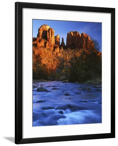 Cathedral Rock, Oak Creek, Arizona, USA-Charles Gurche-Framed Art Print