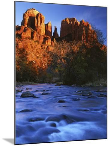 Cathedral Rock, Oak Creek, Arizona, USA-Charles Gurche-Mounted Photographic Print