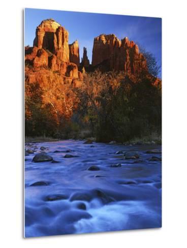 Cathedral Rock, Oak Creek, Arizona, USA-Charles Gurche-Metal Print