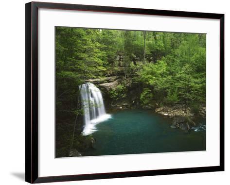 Cascade on Devil's Fork, Ozark-St Francis National Forest, Arkansas, USA-Charles Gurche-Framed Art Print