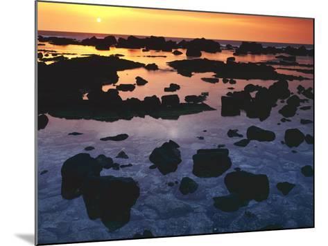 Sunset, Big Island of Hawaii, Kona Coast, Hawaii, USA-Charles Gurche-Mounted Photographic Print