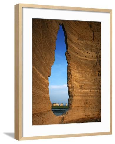 Keyhole Arch, Monument Rocks National Natural Area, Kansas, USA-Charles Gurche-Framed Art Print
