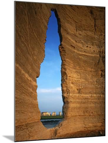 Keyhole Arch, Monument Rocks National Natural Area, Kansas, USA-Charles Gurche-Mounted Photographic Print