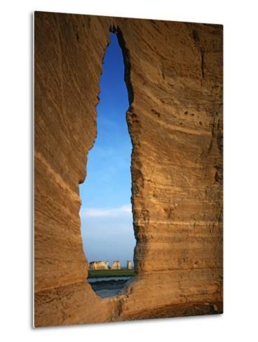 Keyhole Arch, Monument Rocks National Natural Area, Kansas, USA-Charles Gurche-Metal Print
