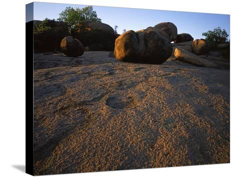 Billion year old granite, Elephant Rocks State Park, Missouri, USA-Charles Gurche-Stretched Canvas Print